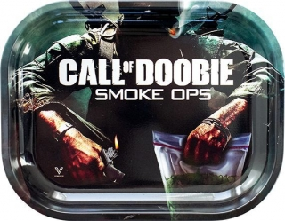 Call Of Doobie Metal Rolling Tray Small