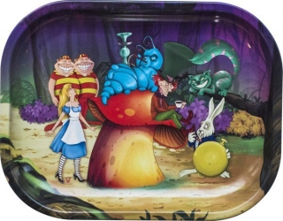 Alice Forest Metal Rolling Tray Small